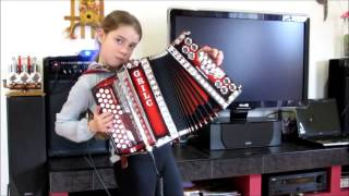 Afternoon dribbling diatonic accordion