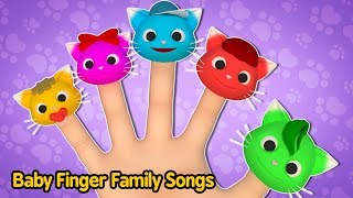 Dancing Cat Finger Family Song Baby Nursery Rhymes for Boys & Girls Daddy Finger Lylics