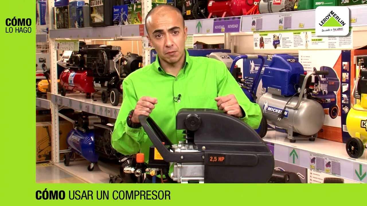 C mo usar un compresor leroy merlin youtube for Compresor aire leroy merlin