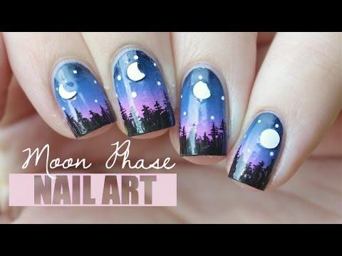 Moon Phase Nail Art Moon Nails