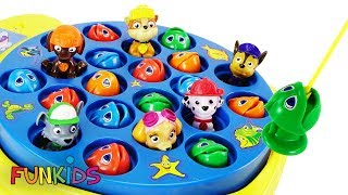 Paw Patrol Let's Go Fishing with Color Fish Toys