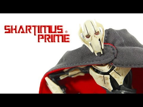 Star Wars General Grievous Deluxe 6 inch Black Series Revenge of the Sith Movie Figure Toy Review