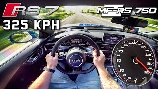 Audi RS7 750 HP AUTOBAHN POV 325 km/h ACCELERATION & TOP SPEED by AutoTopNL