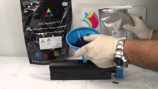 How to refill and reset Oki cartridge B401 B411 B431 B431dn Mb491 Mb451 Mb441dn