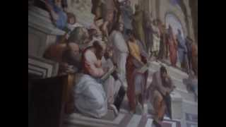 A detail view  from The School of Athens - Raphael