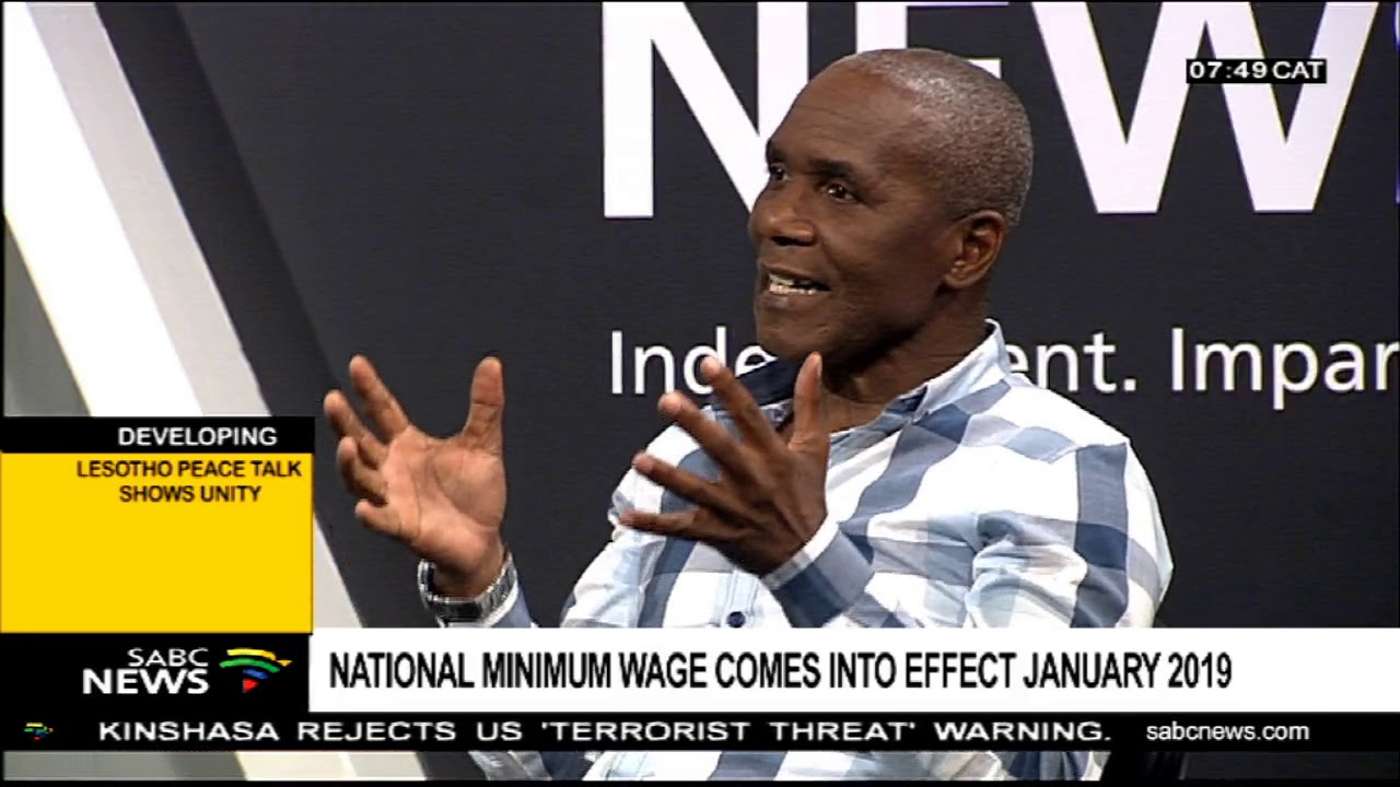 National Minimum Wage Bill comes into effect January 2019