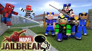 Monster School : MARVEL'S SPIDER-MAN VS JAILBREAK GRANNY , BALDI'S , GRANDPA - Minecraft Animation