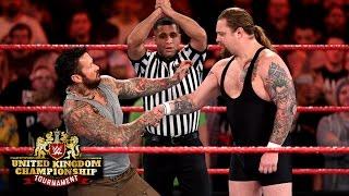 A controversial headbutt creates chaos: WWE United Kingdom Championship Tournament