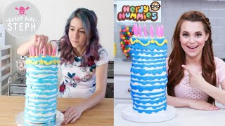 I tried following a NERDY NUMMIES recipe! || SLEEPING BEAUTY BIRTHDAY CAKE