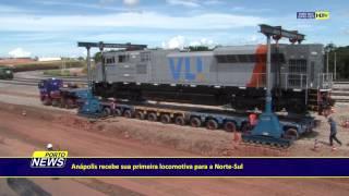 Anápolis recebe sua primeira locomotiva para a Norte-Sul.