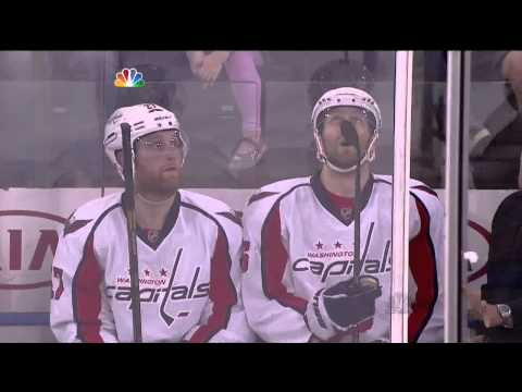Eric Fehr elbow to Derick Brassard May 12 2013 Washington Capitals vs NY Rangers NHL Hockey