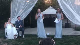 Speech by Lauren & Gwen @ Shelby & Curtis Wedding