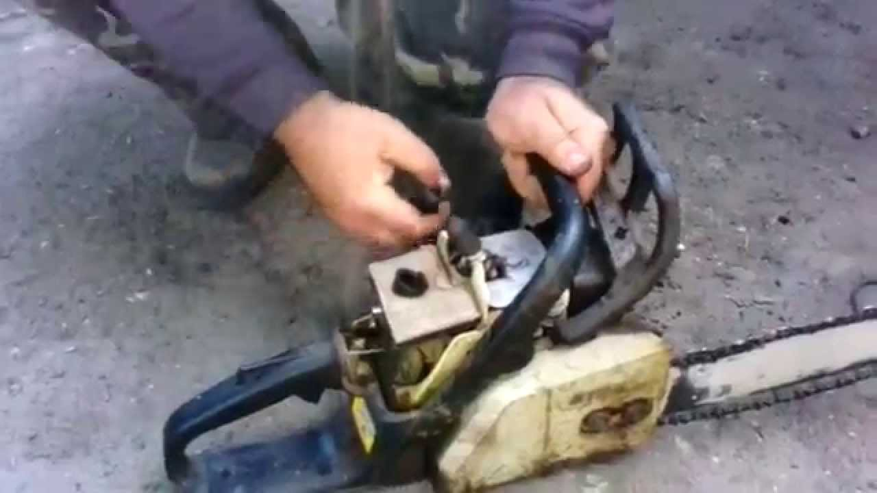 Почему переливает карбюратор на бензопиле