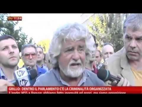 Beppe Grillo a skytg24: dentro il parlamento c'è la criminalità organizzata.
