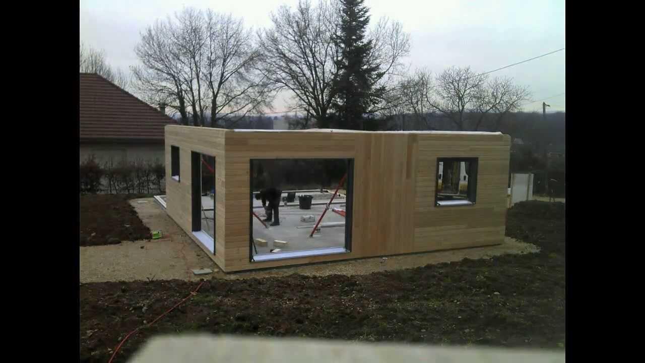 Jour 1 de la construction de notre maison ossature bois Boillod  YouTube