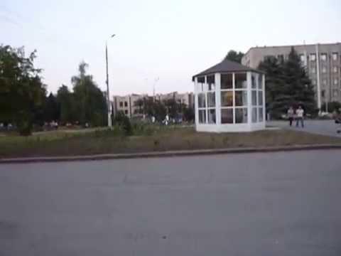 Aug 22nd Slavyansk, Ukraine: Central square/Славянск, центральная площадь