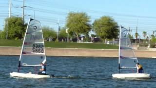 On Tempe Town Lake, high schoolers get sailing lessons