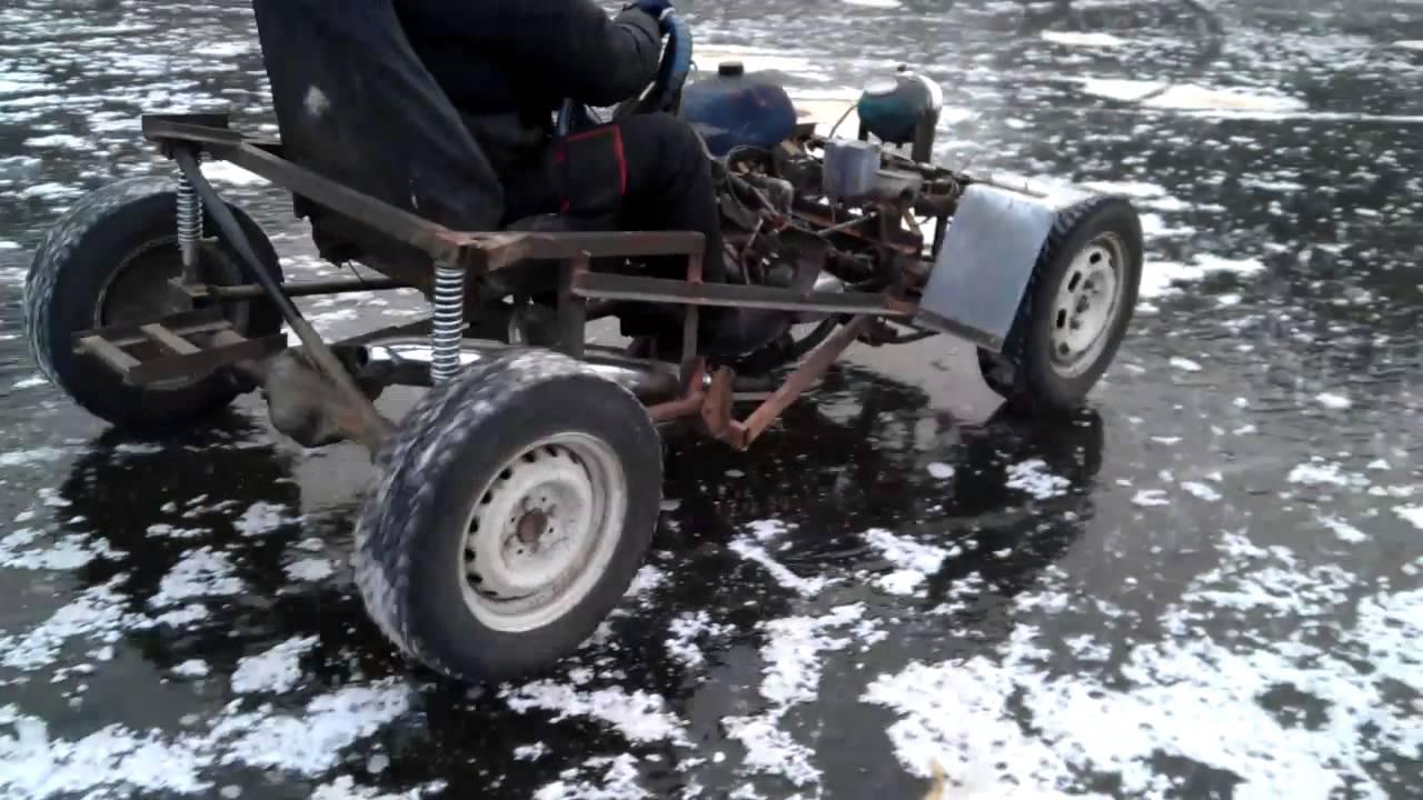 Мини-багги своими руками с двигателем бензопилы