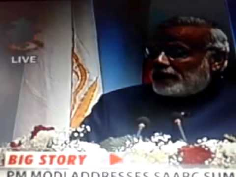 Prime Minister Narendra Modi speech at 2014 SAARC Summit in Nepal - Part 1