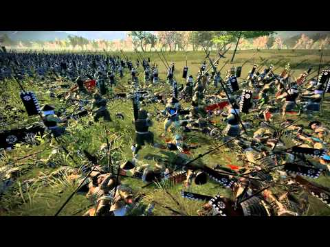 Total War Shogun 2, 30 Katana hero vs 1800 Yari Ashigaru