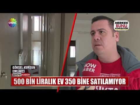 500 Bin Liralık ev 350 Bine satılamıyor