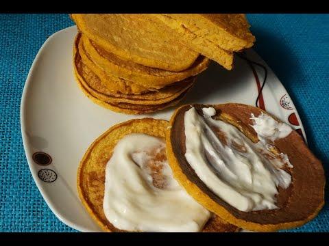 Панкейки с тыквой и овсяной мукой/блинчики правильное питание