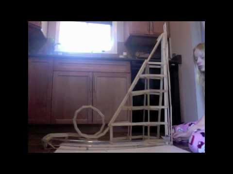 how to make a homemade roller coaster with marbles