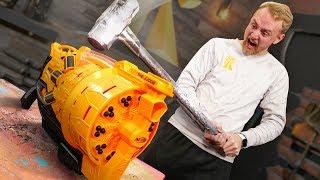 Smashing Battle Universe NERF Guns!