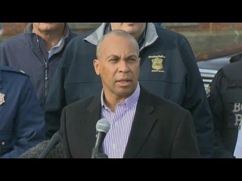 Boston bombings: Massachusetts governor Deval Patrick says 'massive manhunt underway'