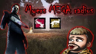 MYERS MEGA RADIUS ! l Dead by daylight l Myers gameplay