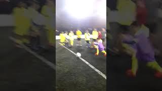 Aluno Dener batendo Pênalti e acertando Gol.
