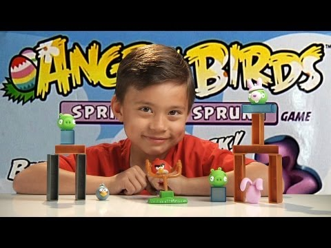 Angry Birds SPRING HAS SPRUNG Game!!! Destroy the BUNNY PIG!