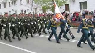 9 мая в Самаре 2015. Проход солдат по центру города.