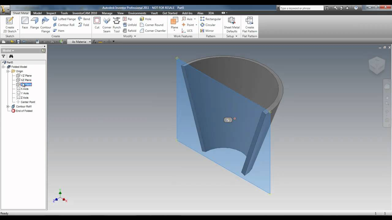 Autodesk Inventor 2011 Sheet Metal Youtube