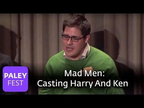 Mad Men - Casting Harry And Ken (Paley Center) Video