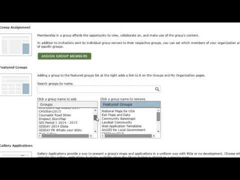 Modify ArcGIS Online Groups
