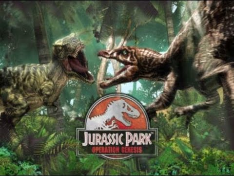 Spinosaurus VS T REX Jurassic park operation genesis