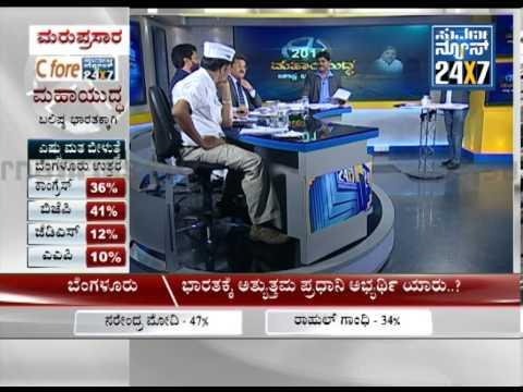 C-Fore pre-poll survey results for Elections 2014 in Karnataka seg 6 - Suvarna News