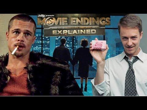 FIGHT CLUB - Movie Endings Explained (1999) Brad Pitt, Edward Norton, David Fincher