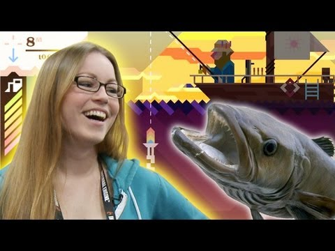 Jackie Goes Deep with Ridiculous Fishing! Kill fish with machine guns in Vlambeer s absurd iOS Game
