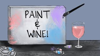 Paint and WINE 002 | Watercolor Painting