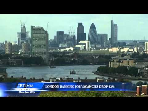 London Banking Job Vacancies Drop 42%