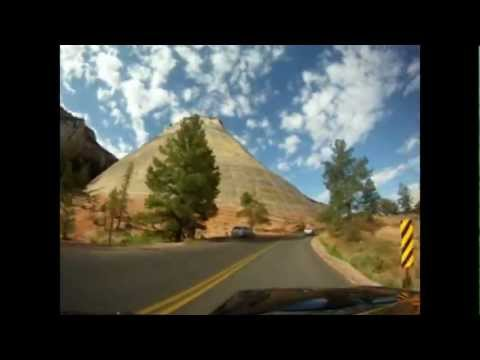 Amazing road trip: Zion National Park (UTAH) drive time lapse