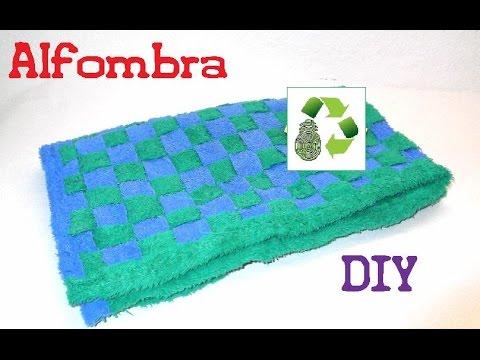 65. DIY CARPET  (ALFOMBRA 5º MÉTODO) RECICLAJE DE TELA-TOALLAS