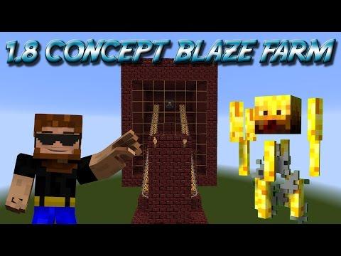 Minecraft Blaze Farm Concept 1.8 Very Resource Friendly