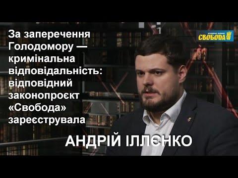 За заперечення Голодомору має бути кримінальна відповідальність, ‒ Андрій Іллєнко