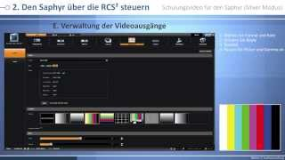 Saphyr - SPX450 Schulungsvideo: Mixer modus