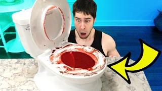 BLOODY TOILET CHALLENGE!!!