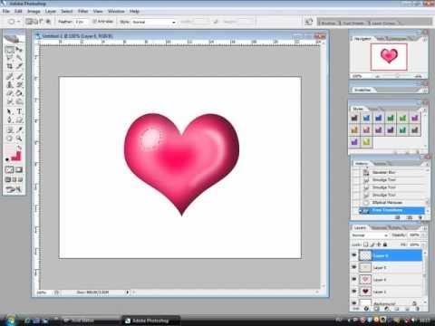 Как сделать фотографию в сердце в фотошопе