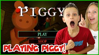 PLAYING PIGGY WITH KARINA!